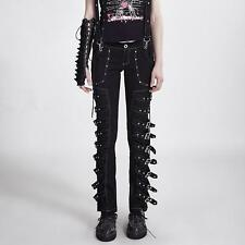 Punk Rave Buckle Bondage Pants [Special Order] - Gothic,Goth,Black,Trousers,Bond