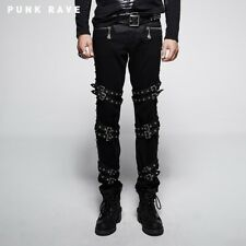 Punk Rave Mortem Buckle Bondage Pants [Special Order] - Gothic,Goth,Black,Trouse