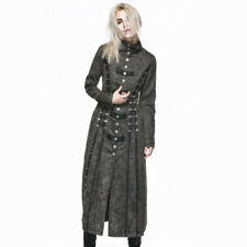 Punk Rave Steampunk Executioner Women's Grey Trench Coat [Special Order] - Gothi
