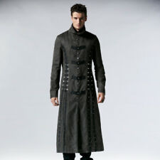 Punk Rave Steampunk Executioner Men's Grey Trench Coat [Special Order] - Gothic,