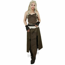Game of Thrones A Song of Ice And Fire Daenerys Targaryen Brown Cosplay Cosutme