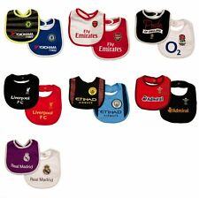 2 Pack Of Bibs Football Club Rugby Baby Gift Set Official One Size