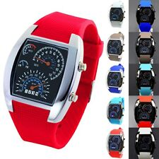 Men's Luxury Digital LED Date Day Rubber Band Sport Analog Quartz Wrist Watch