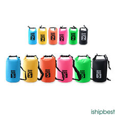 Waterproof Dry Bag Outdoor Sport Swimming Rafting Kayaking Sailing Canoe 2-20L