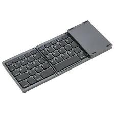 Folding Bluetooth Keyboard Rechargeable Portable Foldable Mini Touchpad Wireless