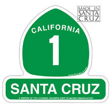 Santa Cruz or California Highway 1 Sticker - Vinyl Decal by Tim Ward