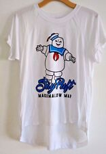 GHOSTBUSTERS STAY PUFT MARSHMALLOW MAN GRAPHIC TEE T-SHIRT WOMENS BRAND NEW