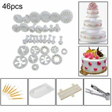 46PC SUGARCRAFT CAKE CUPCAKE DECORATING FONDANT ICING PLUNGER CUTTERS TOOL MOLD
