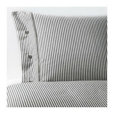 NYPONROS Quilt cover and pillowcases Grey - 100% cotton - IKEA - Brand New