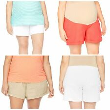 Maternity Oh Baby by Motherhood Secret Fit Belly Roll Cuff Shorts Plus Size NWT