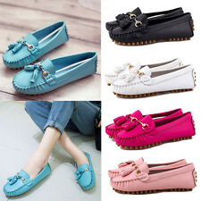 Women Ladies Fringes Tassel Comfy Slip On Moccasin Flats Oxfords Shoes Loafers