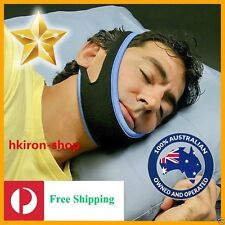 STOP SNORING Chin Strap Anti Snore Sleep Apnea Belt Apnoea Stopper Solution BU