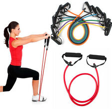 HOT Resistance Band Pilates Tube Workout Gym Yoga Fitness Stretch Exercise Rope