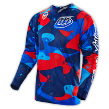 TROY LEE DESIGNS TLD 2016 MX MOTO SE AIR JERSEY COSMIC CAMO BLUE