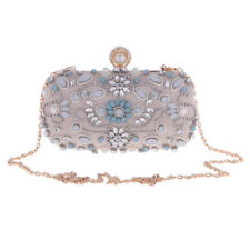 Women Lady Crystal Evening Party Wedding Clutch Handbag Shoulder Chain Bag Purse