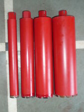 4 PIECES PREMIUM DIAMOND CORE DRILL OF 52MM,77 MM,102MM & 127MM , 1 PIECE EACH