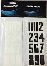 Bauer Hockey Helmet Number Decals! New Stickers, Ice Inline White Black Red Blue