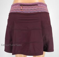 NEW LULULEMON Pace Rival Skirt TALL 2 4 6 10 Bordeaux Drama Space Dye Twist Run
