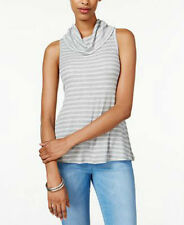 Ultra Flirt Juniors' Sleeveless Cowl-Neck Top