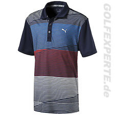 PUMA GOLF MEN'S POLO SHIRT MEN'S DRY CELL PWRCOOL LEVELS POLO PEACOAT