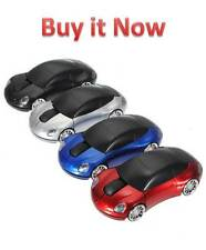 3D Wireless Optical Car Shaped Mouse Mice 1600DPI +USB Receiver For Laptop New