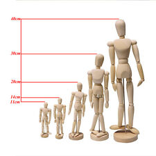 Wooden Figure Manikin Mannequin Artist Drawing Sketching Jointed Human Puppet