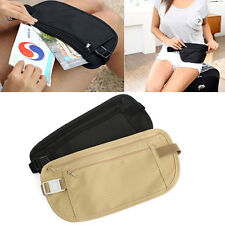 Popular Travel Pouch Hidden Compact Security Money Passport ID Waist Belt Bag