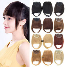Clip In Woven Neat Bangs 100% Remy Human Hair Side Fringe Natural Hair Extension