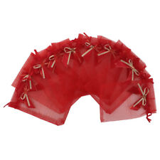 Pack of 10pcs Drawstring Organza Bowknot Gift Pouch Candy Bags Wedding Favor