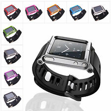 Aluminum Watch Band Wrist Band Bracelet Cover Case for Apple iPod Nano 6 6th