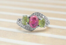 925 Sterling Silver Ring with Tourmaline Natural Gemstones Handcrafted eBay.
