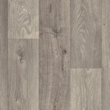 SUPER *4mm THICK* Grey Wood Vinyl flooring *4m WIDE* £7.99sqm **FREE DELIVERY**