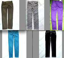 JUSTICE Black Girls Aqua Pupl JEANS Brown Corduroy Gry LEO DENIM TWILL Pants 6 7