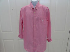 NEW w/Tag-Men's Pink Checkered CHAPS Button Up Shirt