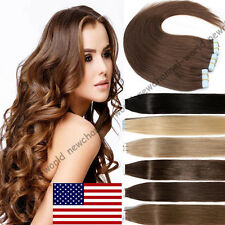 Tape-In 60pcs 100% Real Remy Human Hair Extensions Skin Weft Seamless Blonde B50