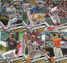 2017 TOPPS  SERIES 2 GOLD PARALLEL INSERT U-PICK COMPLETE YOUR SET (600 - 700 )