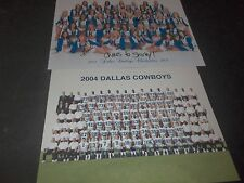 Lot 2 Dallas Cowboys & Dallas Cowboys Cheerleaders Team Photo's cheerleader sign
