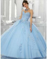 New Strapless Quinceanera Dresses Tulle Sweetheart Formal Prom Party Ball Gown