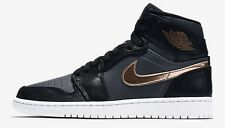 Nike AIR JORDAN-I RETRO HIGH MEN'S SHOES, BLACK/GREY/BRONZE- US 7.5, 8, 8.5 Or 9