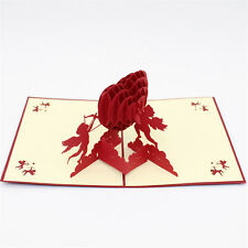 Greeting Card Handmade 3D Gift Paper Carving Love Heart Wedding-HOT