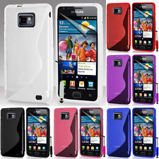 Protective Cover for Samsung Galaxy S2 i9100/i9105g TPU Silicone Flip Case