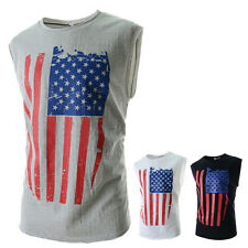 American Flag Distressed T-SHIRT patriotic tattered vintage USA flag Men's tee