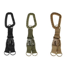 MOLLE Nylon Webbing Carabiner Clip Hook Quick Release Buckle Key Ring Hiking