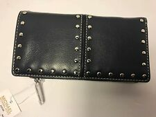 Michael Kors New Astor Women's Top Zip Continental Wallet Studded Leather Style