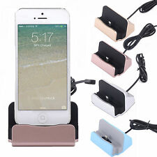 Desktop Charger DOCKING STATION Sync Charge Stand Cradle for iPhone5S6 6s 4.7 SE