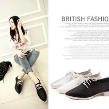 Hot Women Oxfords Flats Slip On Pointed Toe Loafers Lace Up Ballet Boat Shoes