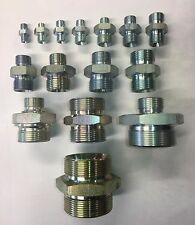Hydraulic male x male Adaptor Fitting Pump Valve All Sizes BSP