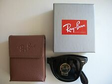 New Authentic Ray-Ban RB 4105 601 54mm Wayfarer Folding Black with green G-15