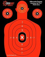 EASYSHOT SILHOUETTE TARGETS For Shooting, High-Visibility Fluorescent Orange