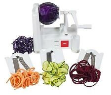 Paderno World Cuisine A4982799 Tri Blade Plastic Spiral Vegetable Slicer